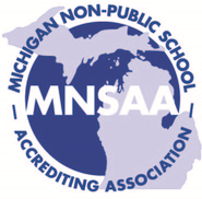 MNSAA logo, Michigan non-public school accrediting association